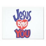 Invitación de JESUS-LOVES-YOU Invitación 10,8 X 13,9 Cm