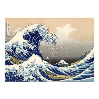 Invitación de Kanagawa de Hokusai la gran onda
