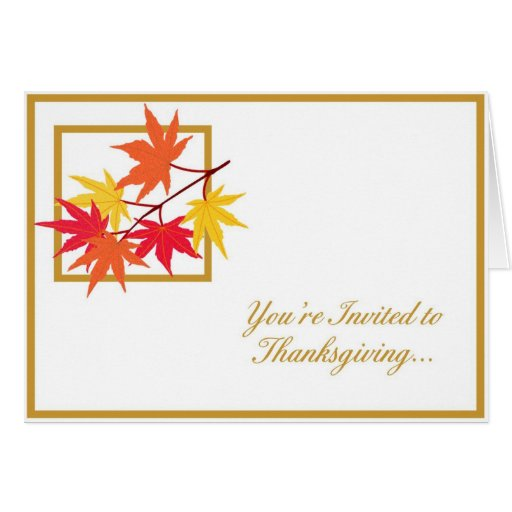 Invitación de la acción de gracias - 1 tarjetón