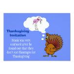 Invitación de la acción de gracias con el pavo