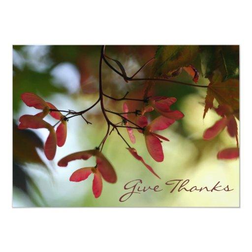 Invitación de la acción de gracias del árbol de