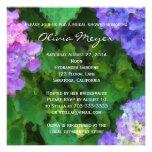 Invitación de la acuarela de los Hydrangeas