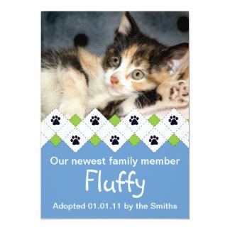 Invitación de la adopción del gato/del gatito invitación 12,7 x 17,8 cm