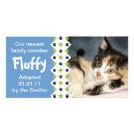 Invitación de la adopción del gato/del gatito tarjeta con foto personalizada