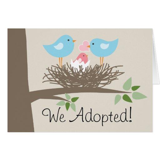 Invitación de la adopción para los pares gay - la tarjeta pequeña