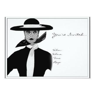 Invitación de la alta sociedad del vintage invitación 12,7 x 17,8 cm