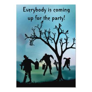 Invitación de la apocalipsis del zombi o del