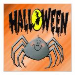 Invitación de la araña de Halloween Invitación 13,3 Cm X 13,3cm