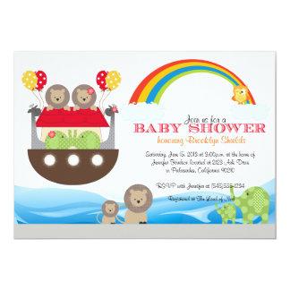 Invitación de la arca de Noah - fiesta de