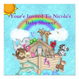 Invitación de la arca de Noahs de la fiesta de
