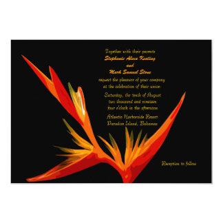 Invitación de la ave del paraíso
