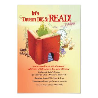 Invitación de la aventura de la lectura