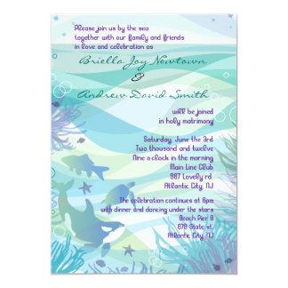 Invitación de la ballena y del boda de la vida