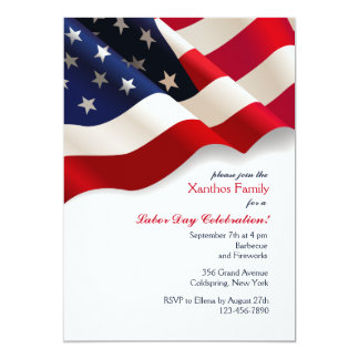 Invitación de la bandera americana
