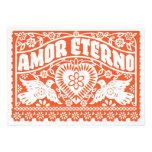 Invitación de la bandera de Amor Eterno Papel Pica