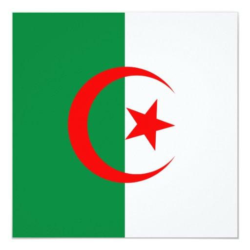 Invitación de la bandera de Argelia