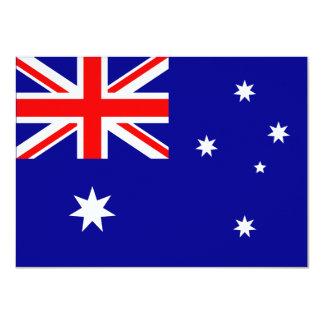 Invitación de la bandera de Australia