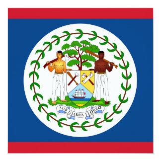 Invitación de la bandera de Belice