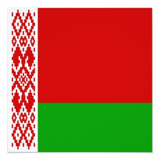 Invitación de la bandera de Bielorrusia