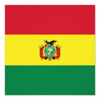 Invitación de la bandera de Bolivia Invitación 13,3 Cm X 13,3cm