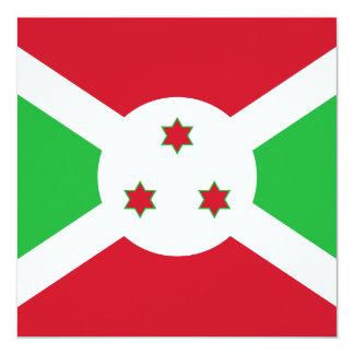Invitación de la bandera de Burundi