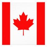 Invitación de la bandera de Canadá