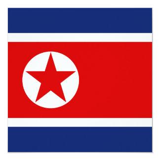 Invitación de la bandera de Corea del Norte