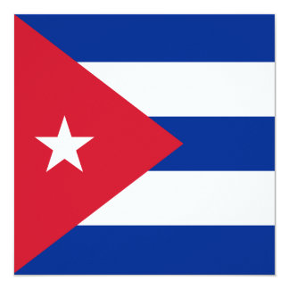 Invitación de la bandera de Cuba