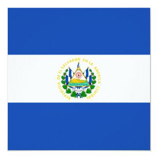 Invitación de la bandera de El Salvador