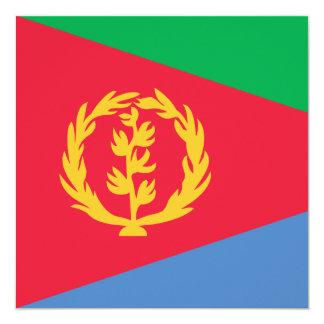 Invitación de la bandera de Eritrea
