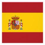 Invitación de la bandera de España