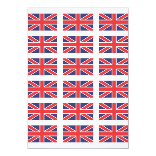 Invitación de la bandera de Gran Bretaña Union