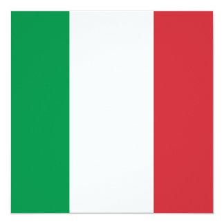 Invitación de la bandera de Italia Invitación 13,3 Cm X 13,3cm