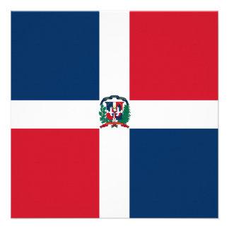 Invitación de la bandera de la República Dominican