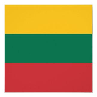 Invitación de la bandera de Lituania Invitación 13,3 Cm X 13,3cm