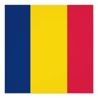 Invitación de la bandera de República eo Tchad