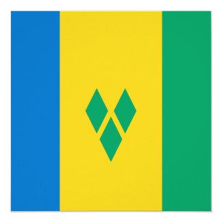Invitación de la bandera de San Vicente y las