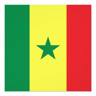 Invitación de la bandera de Senegal
