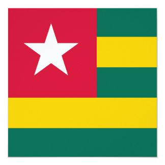 Invitación de la bandera de Togo