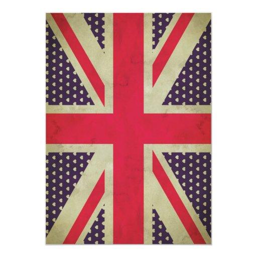 Invitación de la bandera de Union Jack
