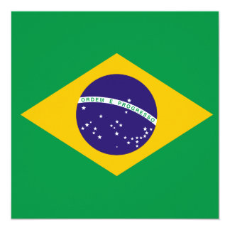 Invitación de la bandera del Brasil