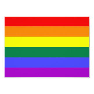 Invitación de la bandera del orgullo del arco iris