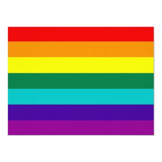 Invitación de la bandera del orgullo gay del arco