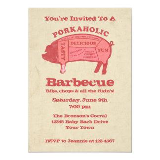 Invitación de la barbacoa de Porkaholic