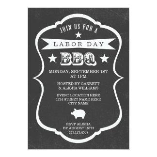 Invitación de la barbacoa del Día del Trabajo de