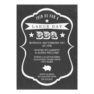 Invitación de la barbacoa del Día del Trabajo de l