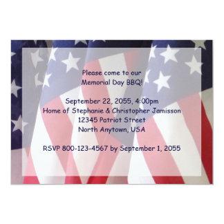 Invitación de la barbacoa del Memorial Day,