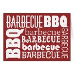 Invitación de la barbacoa tarjeta de felicitación