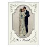 Invitación de la boda con los pares del Victorian Tarjeta De Felicitación