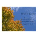 Invitación de la boda de las hojas de la caída y